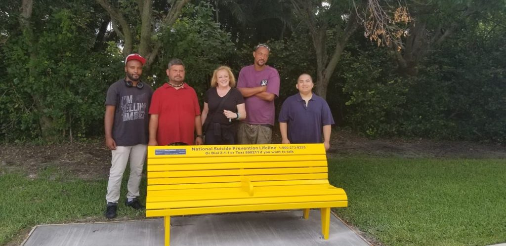 mental health awareness benches