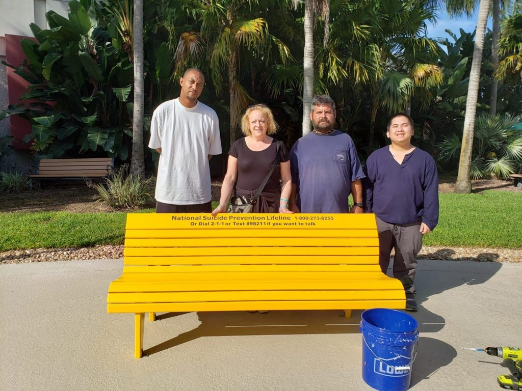 awareness benches in florida